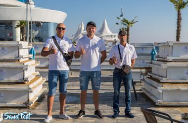 Помогли создать самую большую фигуру из песка в Украинена Odessa Sand Fest