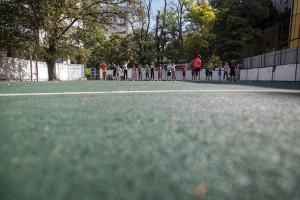 Благоустроили стадион возле 38-й школы
